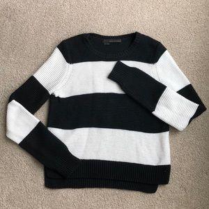 Cotton/cashmere blend stripe sweater